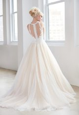 High Neck Illusion Sweetheart Lace Bodice Tulle Skirt Wedding Dress by Madison James - Image 2