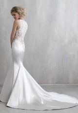Illusion Sweetheart Neck Satin Skirt Wedding Dress by Madison James - Image 2