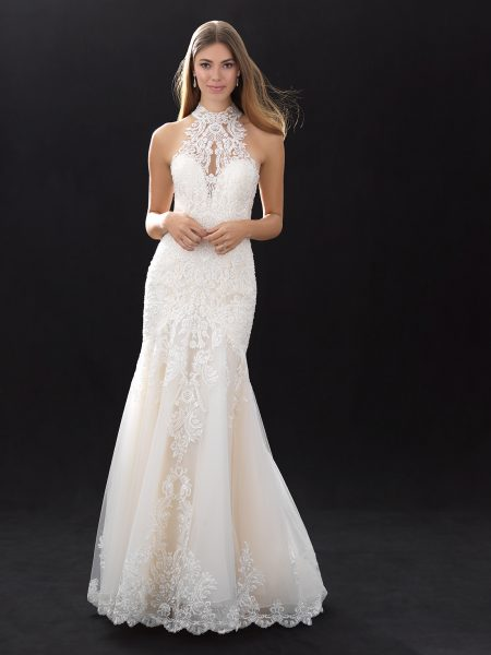 Modern Wedding Dresses.Modern Fit And Flare Wedding Dress