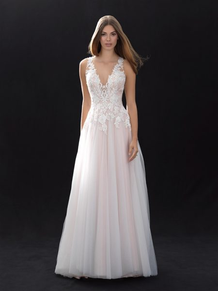 Romantic A-line Wedding Dress by Madison James - Image 1