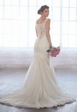 Scoop Neck Sleeveless Beaded Bodice Fit And Flare Wedding Dress by Madison James - Image 2