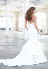 Simple Sweetheart Neck Strapless Satin Mermaid Wedding Dress by Madison James - Image 2