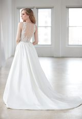 Sleeveless V-neck Beaded Bodice A-line Wedding Dress by Madison James - Image 2