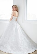 Strapless Lace Ball Gown Wedding Dress by Madison James - Image 2