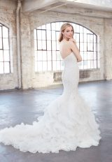 Strapless Sweetheart Beaded Lace Mermaid Wedding Dress by Madison James - Image 2