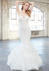 Strapless Sweetheart Beaded Lace Mermaid Wedding Dress by Madison James - Image 1