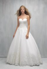 Strapless Sweetheart Lace Bodice Full Skirt Wedding Dress by Madison James - Image 1
