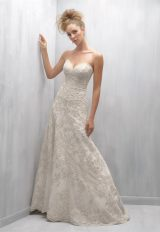 Strapless Sweetheart Neck Beaded Lace A-line Wedding Dress by Madison James - Image 1