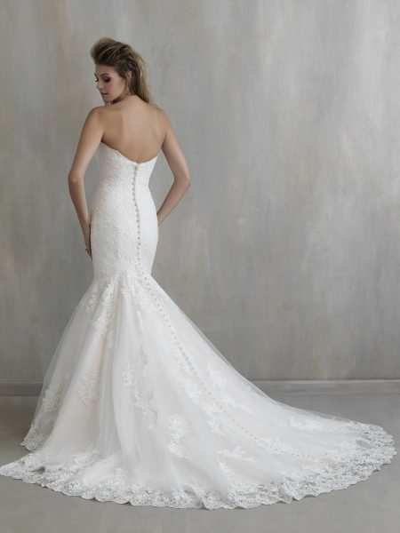 Sweetheart Neck Lace Mermaid Wedding Dress by Madison James - Image 2