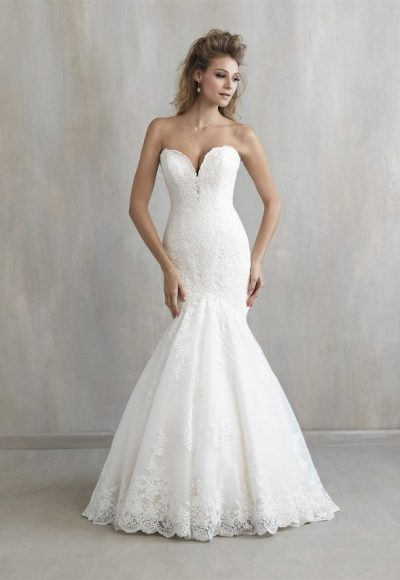 Sweetheart Neck Lace Mermaid Wedding Dress by Madison James