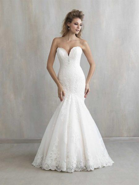 Sweetheart Neck Lace Mermaid Wedding Dress by Madison James - Image 1
