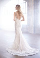 V-neck Beaded Embroidery Fit And Flare Wedding Dress by Madison James - Image 2