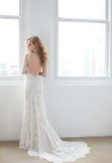 V-neck Open Back Lace Sleeveless Wedding Dress by Madison James - Image 2