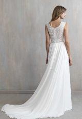 V-neck Sleeveless Lace Bodice A-line Wedding Dress by Madison James - Image 2