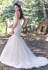 Lace Sweetheart Neck Bodice Fit And Flare Wedding Dress by Maggie Sottero - Image 2