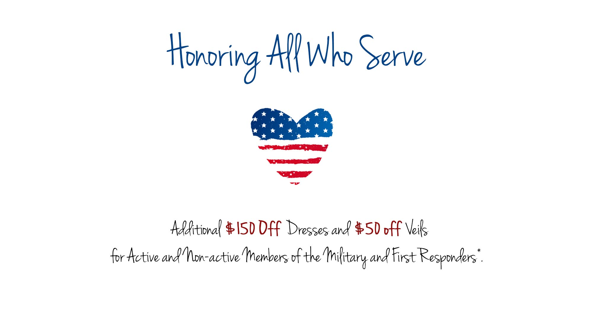 $150 discount for military and first responders
