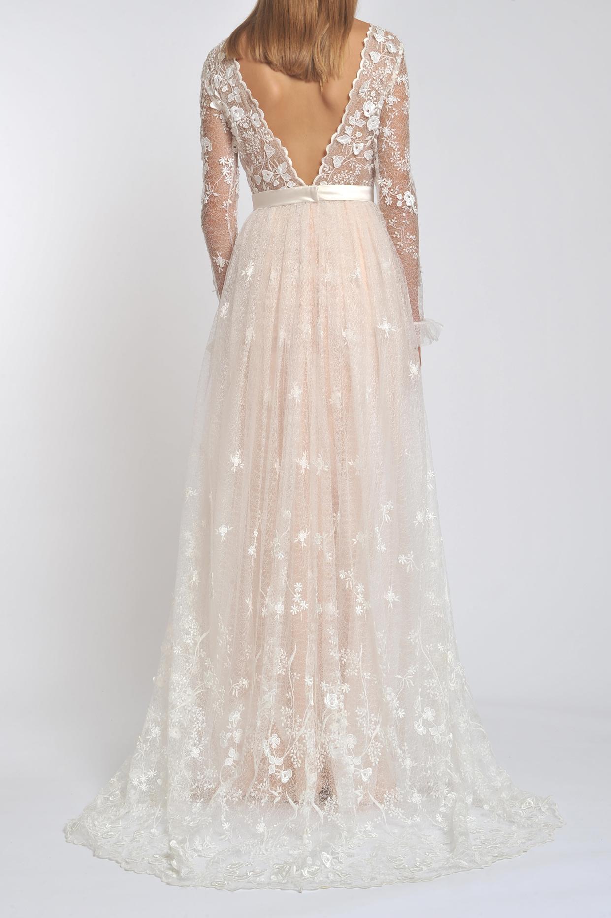 Flower V Neck Wedding Dress Fashion Dresses