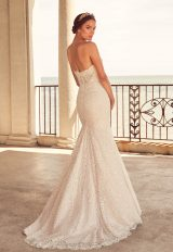 Fit And Flare Lace Gown With Sweetheart Neckline by Paloma Blanca - Image 2