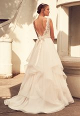 Lace V-neck Natural Waist Tulle Skirt Ball Gown by Paloma Blanca - Image 2