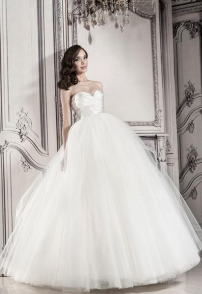Strapless Ball Gown With Tulle Skirt by Pnina Tornai