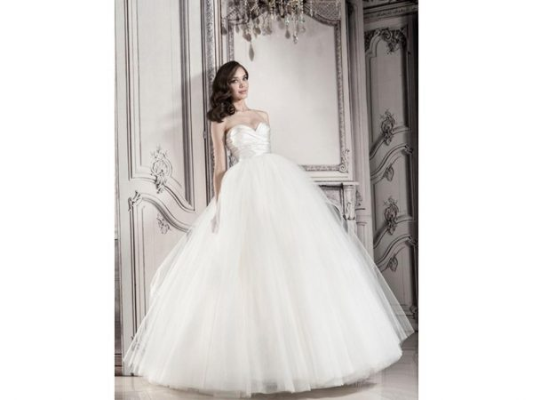 Strapless Ball Gown With Tulle Skirt by Pnina Tornai - Image 1