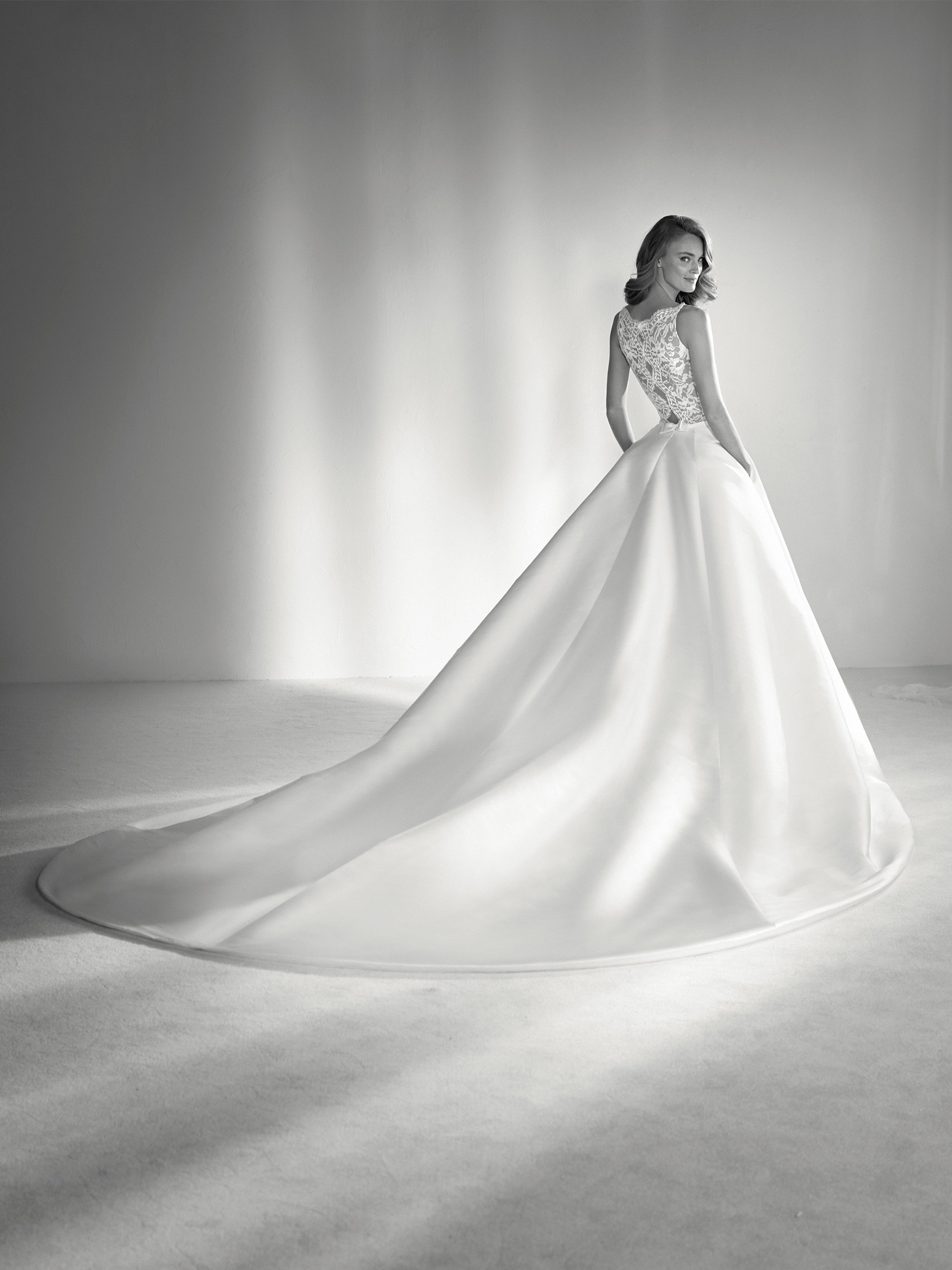 Bateau Neckline Ball Gown Wedding Dress   Kleinfeld Bridal