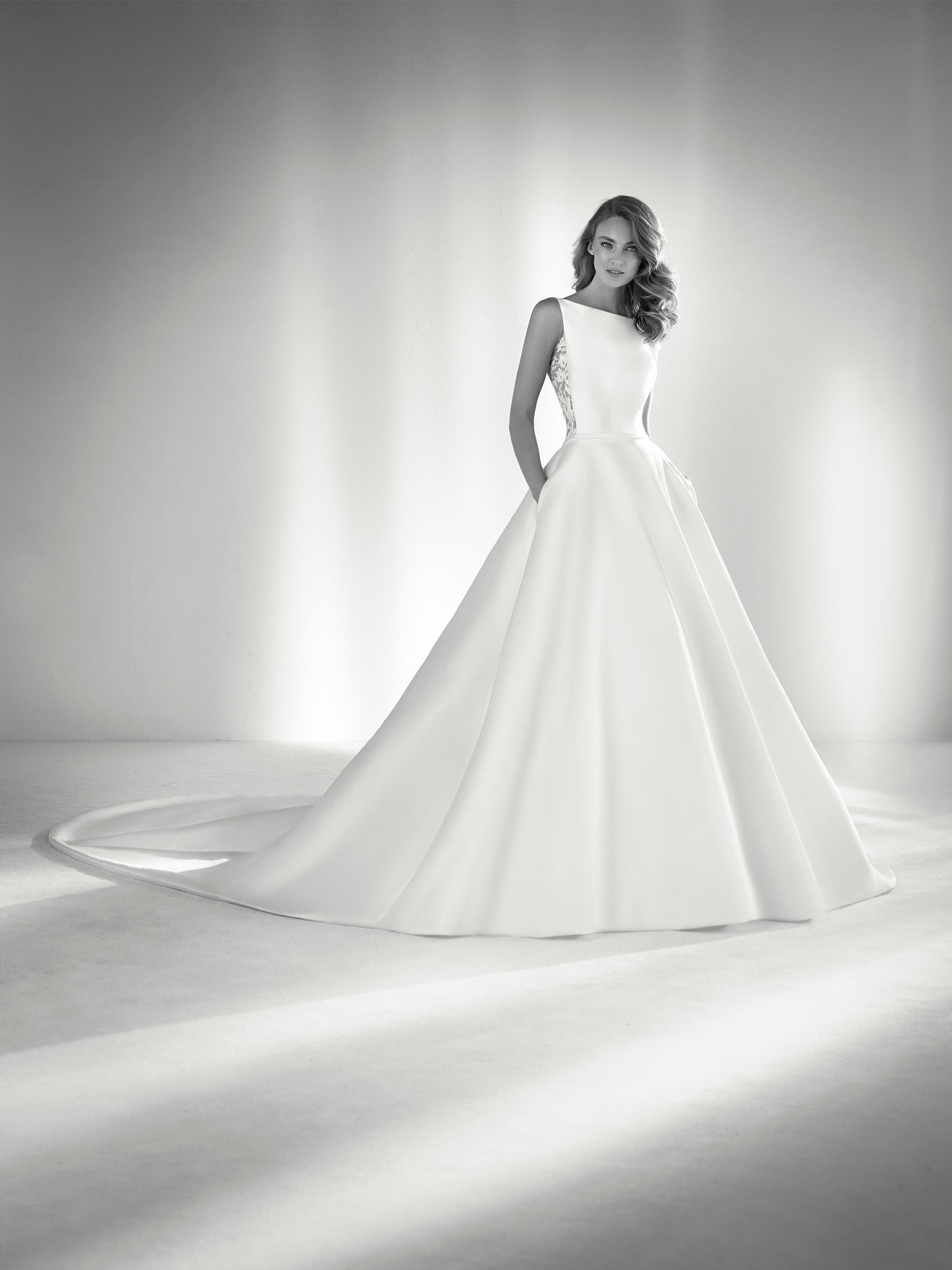 Bateau Neckline Ball Gown Wedding Dress Kleinfeld Bridal