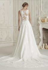 Sleeveless Bateau Neckline A-line Wedding Dress With Back Details by Pronovias - Image 2