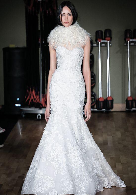 Lace Applique Sweetheart Neck Mermaid Wedding Dress Kleinfeld Bridal