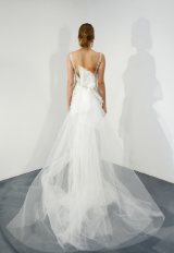 Illusion Beaded Sweetheart Neck Fit And Flare Wedding Dress by Stephen Yearick - Image 2