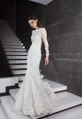 Long Sleeve 3D Floral Applique Mermaid Wedding Dress by Tony Ward - Image 1