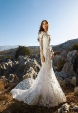 Long Sleeve 3D Floral Applique Mermaid Wedding Dress by Tony Ward - Image 2