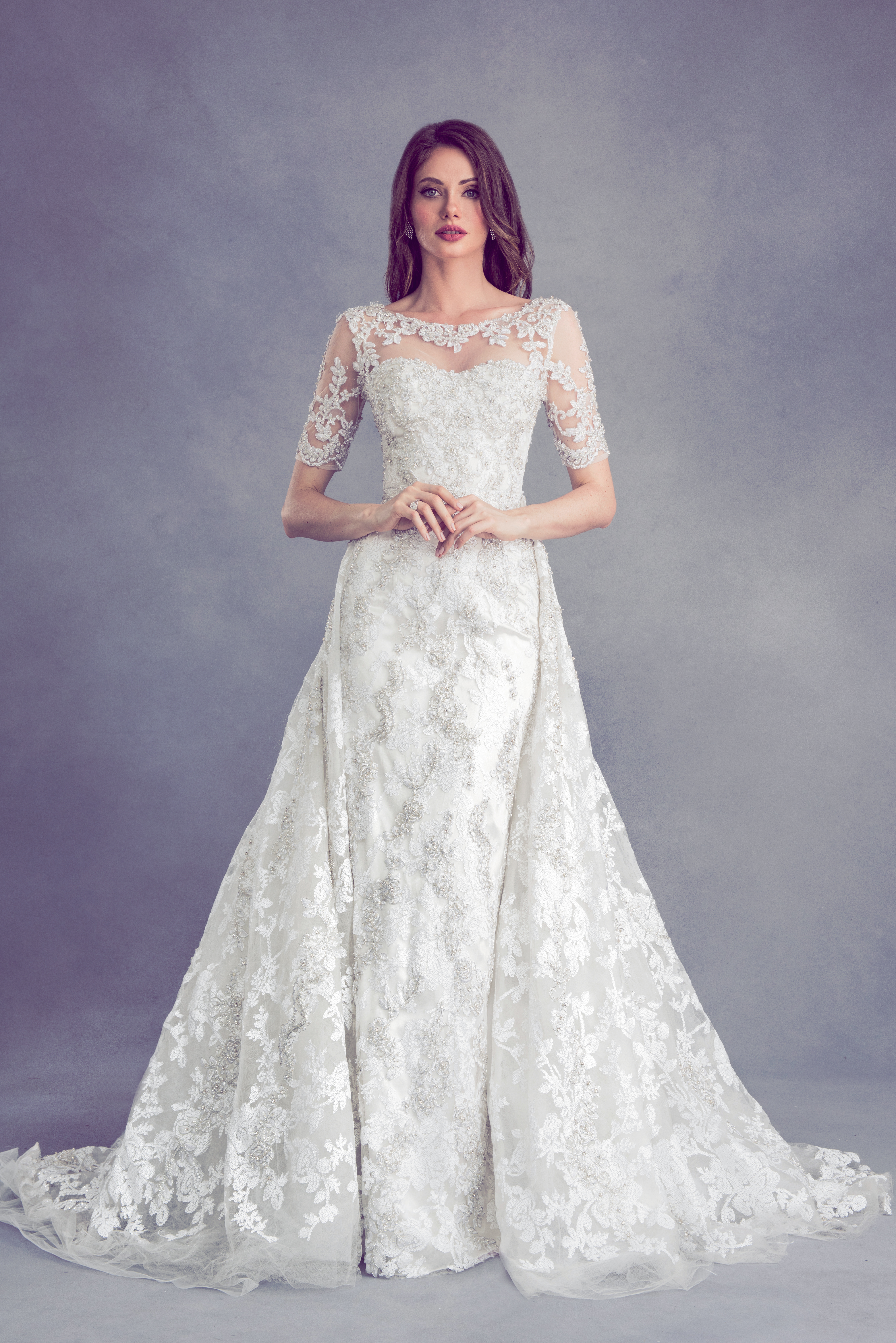 Bateau short sleeve beaded and embroidered sheath dress kleinfeld bateau short sleeve beaded and embroidered sheath dress kleinfeld bridal junglespirit Images