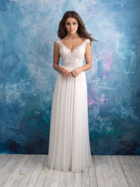 Beaded sleeveless v neck bodice a line wedding dress kleinfeld bridal beaded sleeveless v neck bodice a line wedding dress by allure bridals image solutioingenieria Choice Image