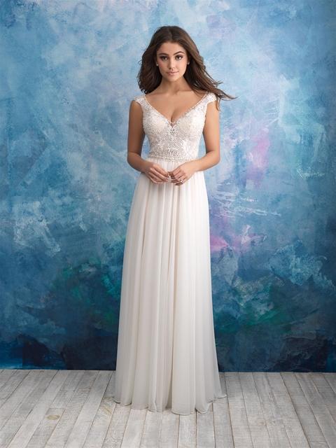 Beaded Sleeveless V-neck Bodice A-line Wedding Dress | Kleinfeld Bridal