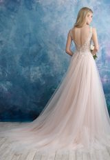 Detailed Bodice Tulle Skirt Ball Gown Wedding Dress by Allure Bridals - Image 2