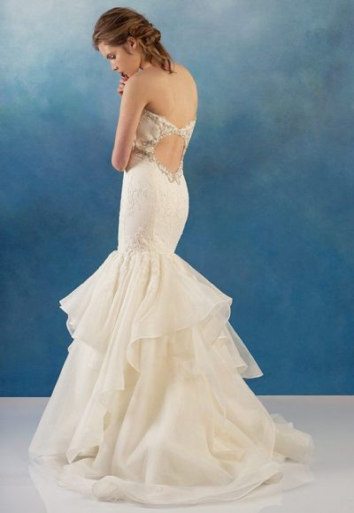 Beaded Bodice Mermaid Lace And Organza Wedding Dress by Alyne by Rita Vinieris