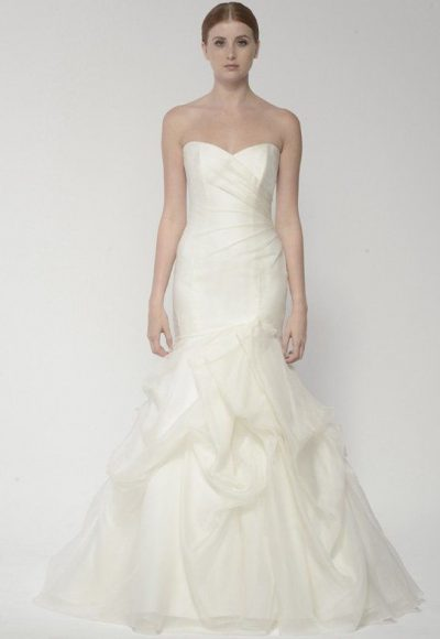 Simple Sweetheart Strapless Fit And Flare Wedding Dress by Bliss by Monique Lhuillier