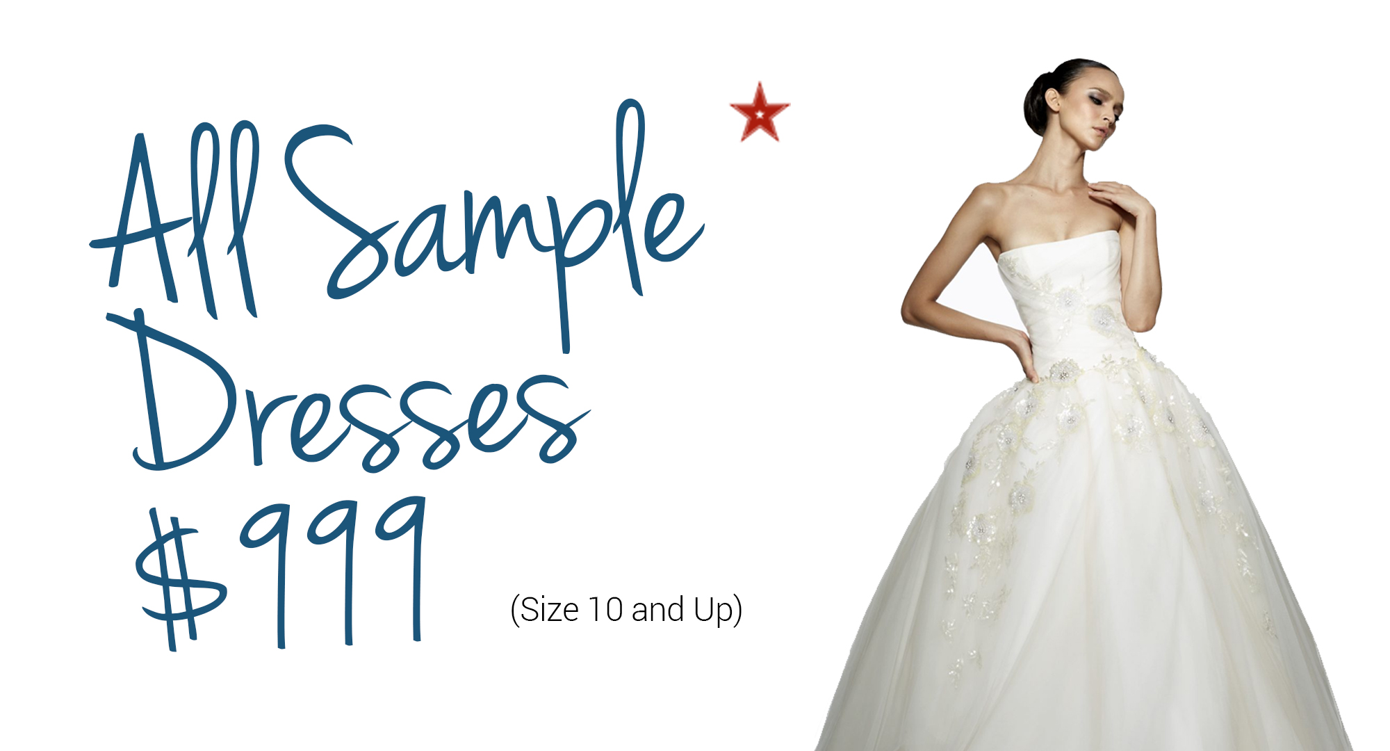 sample sale dresses $999