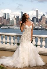 Beaded Sweetheart Bodice With Ruffled Skirt Wedding Dress by Eve of Milady - Image 1