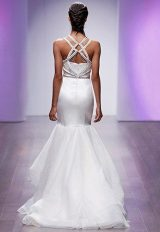 Fit And Flare Satin Wedding Dress by Hayley Paige - Image 2