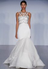 Fit And Flare Satin Wedding Dress by Hayley Paige - Image 1