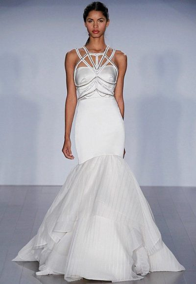 Fit And Flare Satin Wedding Dress by Hayley Paige