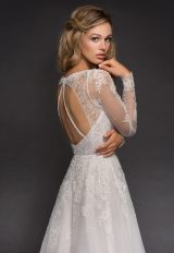 Sweetheart Long Sleeve Beaded Lace A-lne Wedding Dress by Hayley Paige - Image 2