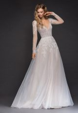 Sweetheart Long Sleeve Beaded Lace A-lne Wedding Dress by Hayley Paige - Image 1