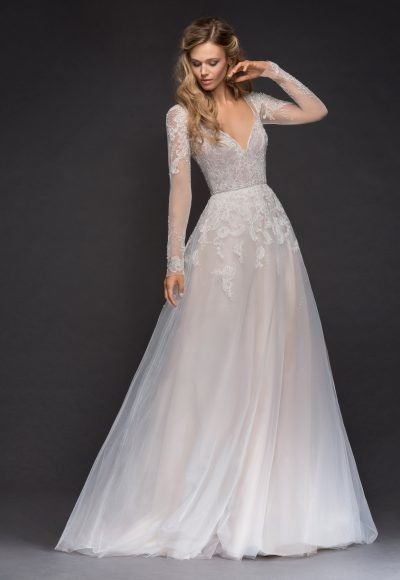 Sweetheart Long Sleeve Beaded Lace A-lne Wedding Dress by Hayley Paige