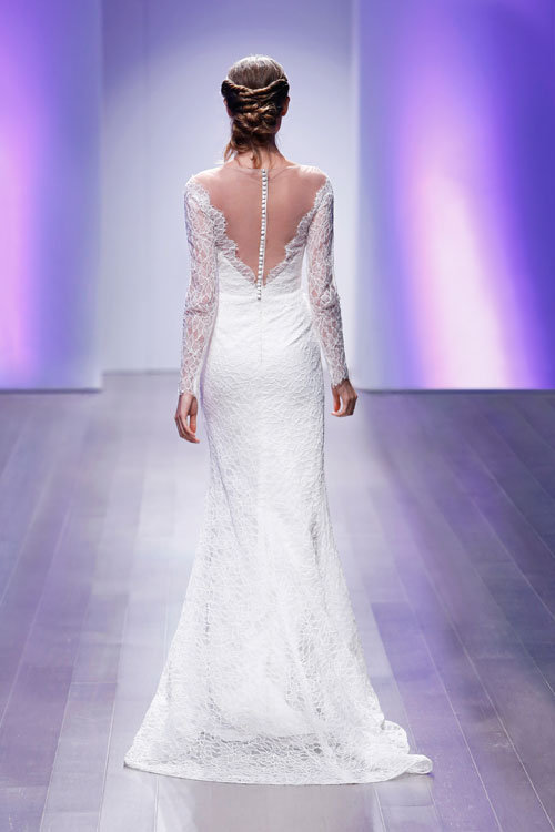 e35d48085617 Long Sleeve A-line Lace Wedding Dress | Kleinfeld Bridal