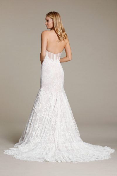 Sweetheart Lace Fit And Flare Wedding Dress - Image 2