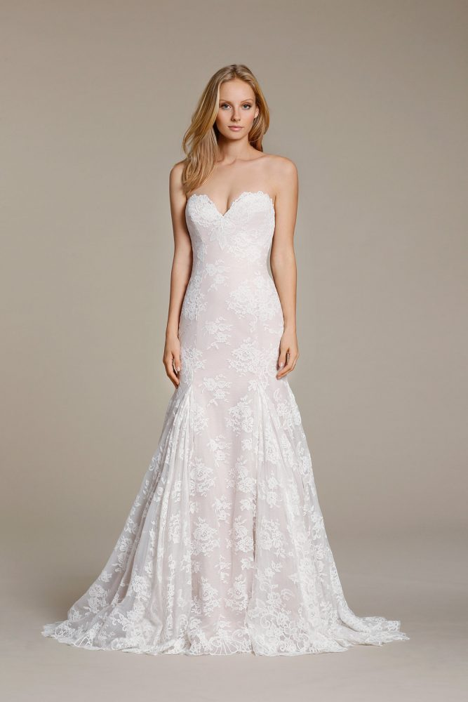 Sweetheart Lace Fit And Flare Wedding Dress - Image 1