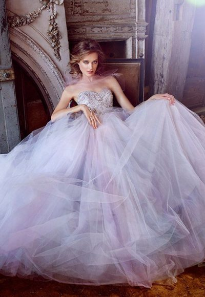 Beaded Sweetheart Bodice With Full Tulle Skirt Wedding Dress by Lazaro